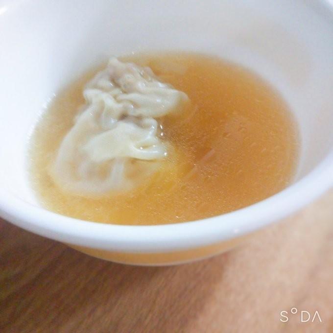生姜と水餃子のスープ