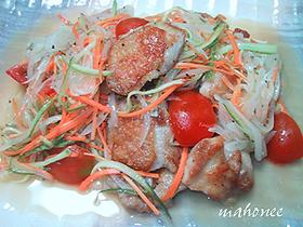 サッパリ簡単ღ鶏もも肉のマリネサラダღ