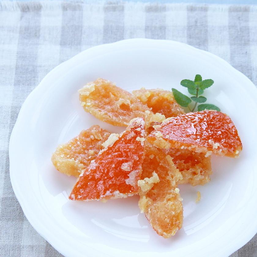 夏みかん皮で『オレンジピール』簡単