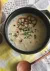 琵琶湖からすま蓮根の白みそ豆乳ポタージュ
