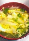 簡単ふわたま豆苗スープ