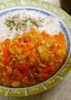 ❄鶏のタイ風カレー&ワカメ豆腐の味噌汁❄
