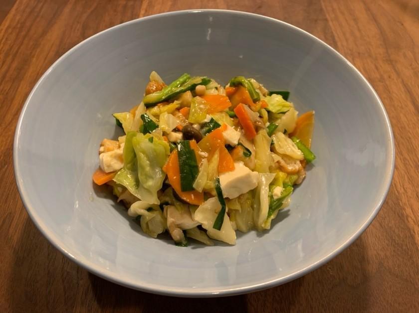 お豆腐とお野菜のクタクタ炒め