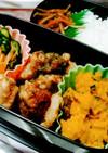 竹輪の磯辺揚げと作り置き総菜のお弁当