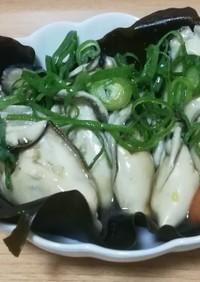 香りが広がる!牡蠣の昆布酒蒸し