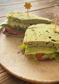 たっぷり野菜のおからパウダーサンドイッチ