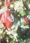 貴女風味で小松菜の卵とじ♥ゆりさん風
