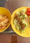 ズボラな夕食(和×和)