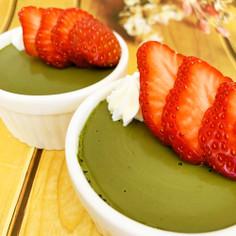 あま茶で低カロリー♡抹茶豆乳ムース