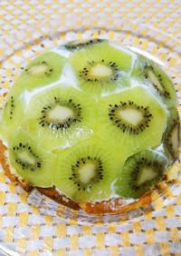 カステラで簡単♡キウイのドームケーキ