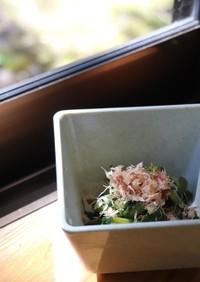 伝統野菜川俣菜の簡単おひたし