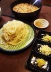大根おろし納豆うどん(つけ麺です)