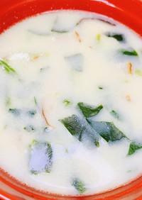 【病院】豆乳スープ【給食】