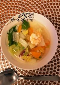 妊婦飯 糖質オフ 食べる!海鮮スープ