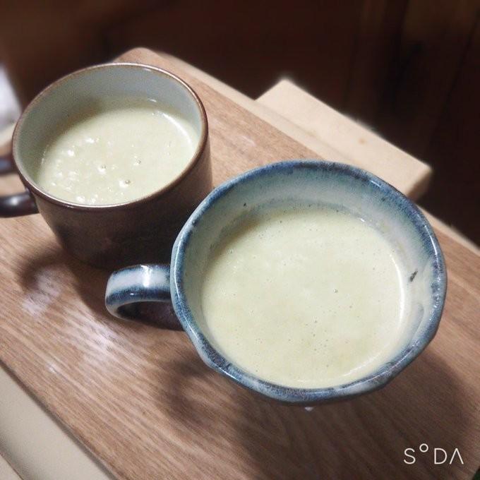 枝豆と豆乳の濃厚ポタージュスープ