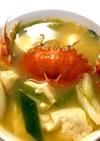 丸蟹とふあふあ豆腐のお味噌汁