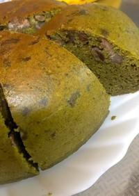 抹茶とあずきの炊飯器ケーキ