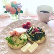 朝食♡簡単マイレシピ2種のオープンサンドの写真