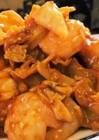 海老とキャベツのけいちゃん風味噌炒め