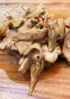豚バラと舞茸の生姜醤油炒め