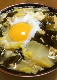 インスタントの袋ラーメン(卵・野菜など)