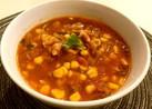 ベーコンとコーンのメキシカンスープ