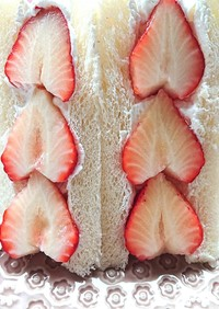 簡単失敗なし、子供でも作れる苺サンド