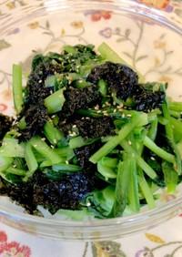 つまみにご飯に。小松菜と韓国海苔のナムル