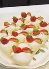 ちぎりパン苺と練乳クリームデコレーション