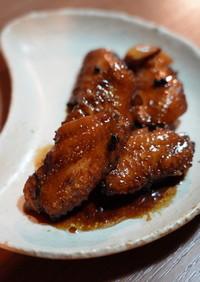 コラーゲンたっぷり!鶏手羽先の黒酢煮込み