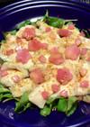 桜大根の水晶鶏、カルパッチョ風