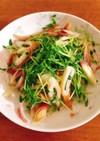 みょうが・豆苗・ちくわの和風サラダ