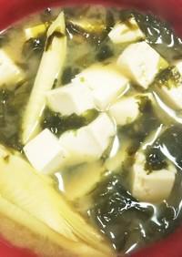 筍の味噌汁