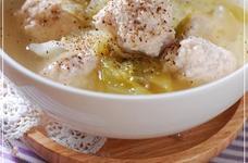 鶏つくね&レタスのレモン塩スープ