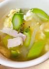 アスパラと卵のスープ
