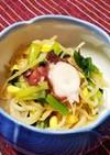 タコと豆モヤシと小松菜のナムル