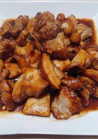ぶっ込んで簡単 ~鶏モモ味噌炒め~