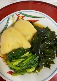 新竹の子とわかめのピリ辛味噌煮