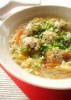 雑穀団子の食べるスープ