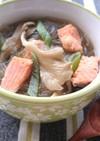 簡単塩鮭舞茸白ネギの春雨スープダイエット