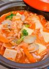 キムチ鍋の素と豆板醤でスンドゥブチゲ♪