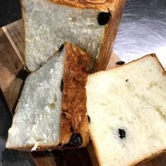 ラムレーズン食パン♪角食。