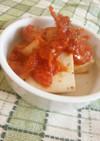 豆腐のめんつゆ漬け★トマトソースがけ
