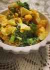 簡単!鶏挽肉と小松菜の卵サラダ