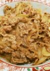 牛肉と玉ねぎの炒め物
