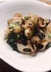 簡単♩蓮根と小松菜の塩昆布炒め