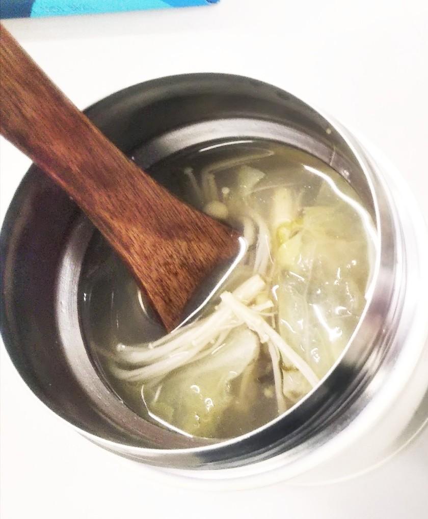 もずく酢とオクラのスープをスープジャーで