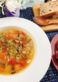 トマトとセロリと椎茸のスープ♡