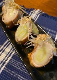 柚子胡椒とポン酢でサッパリ。葱の豚肉巻き