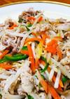 しゃぶしゃぶ用で肉野菜炒め。